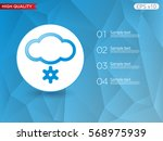 colored icon or button of snow...   Shutterstock .eps vector #568975939