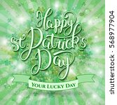 happy st.patrick's day  ... | Shutterstock .eps vector #568977904