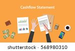 write and count cashflow...   Shutterstock .eps vector #568980310