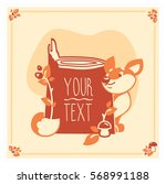 vector greeting card template... | Shutterstock .eps vector #568991188
