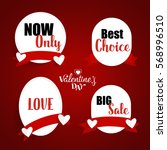 sale coupon  voucher  tag.... | Shutterstock .eps vector #568996510