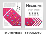 abstract vector layout... | Shutterstock .eps vector #569002060