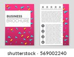 abstract vector layout... | Shutterstock .eps vector #569002240