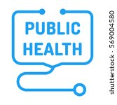 public health. badge with... | Shutterstock .eps vector #569004580