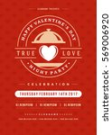 happy valentines day party... | Shutterstock .eps vector #569006920