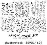 vector hand drawn arrows set | Shutterstock .eps vector #569014624