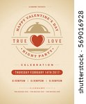 happy valentines day party... | Shutterstock .eps vector #569016928