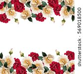 beautiful floral background of... | Shutterstock . vector #569018500