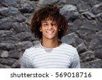 close up portrait of handsome... | Shutterstock . vector #569018716