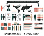 collection of infographic... | Shutterstock .eps vector #569024854