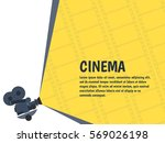 cinema festival poster or flyer ... | Shutterstock .eps vector #569026198