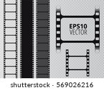 set of vector film strip...