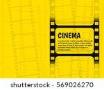 cinema festival poster or flyer ... | Shutterstock .eps vector #569026270