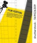 cinema festival poster or flyer ... | Shutterstock .eps vector #569026309
