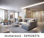 elegant and luxurious light... | Shutterstock . vector #569028376