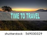 wording time to travel with... | Shutterstock . vector #569030329