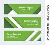 material design banners. set of ... | Shutterstock .eps vector #569034409