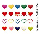 heart mark icon. | Shutterstock .eps vector #569036584