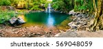 Panoramic Photo Landscape Waterfall Hidden - Fine Art prints