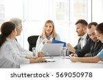 team of doctors having meeting...   Shutterstock . vector #569050978