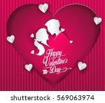 happy valentines day vector...   Shutterstock .eps vector #569063974