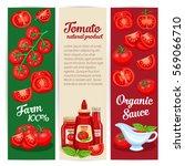 tomato sauce design set of... | Shutterstock .eps vector #569066710
