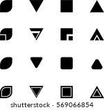 abstract shapes for logo and... | Shutterstock .eps vector #569066854