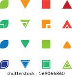 abstract shapes for logo and... | Shutterstock .eps vector #569066860