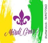 Mardi Gras Greeting Card With...
