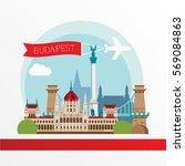 budapest detailed silhouette.... | Shutterstock .eps vector #569084863