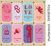 happy valentine's day love card ... | Shutterstock .eps vector #569087014