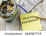 health insurance concept with... | Shutterstock . vector #569087719