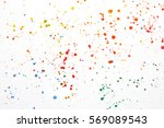 acrylic paint splatters and... | Shutterstock . vector #569089543