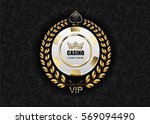 vip poker luxury white and... | Shutterstock .eps vector #569094490