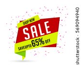 sale paper tag or banner design ... | Shutterstock .eps vector #569094940