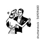 Dance Couple   Retro Clip Art