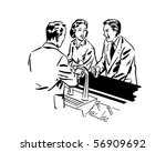 around the soda fountain  ... | Shutterstock .eps vector #56909692
