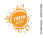 juice splash vector sign | Shutterstock .eps vector #569101363