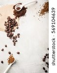 background with assorted coffee ... | Shutterstock . vector #569104639