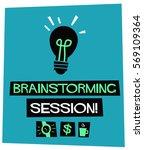 brainstorming session   flat... | Shutterstock .eps vector #569109364