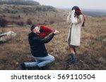 marriage proposal | Shutterstock . vector #569110504