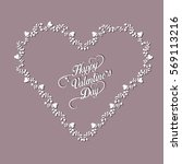 vector   valentine card with... | Shutterstock .eps vector #569113216