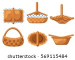 collection basket for picnic...   Shutterstock .eps vector #569115484