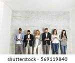 young business people with... | Shutterstock . vector #569119840