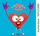 vector graphic creative happy... | Shutterstock .eps vector #569121880