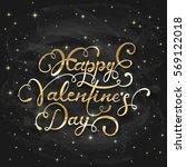 golden lettering happy... | Shutterstock . vector #569122018