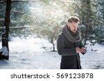 texting in snow | Shutterstock . vector #569123878