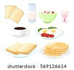 breakfast composition sandwich ...   Shutterstock .eps vector #569126614