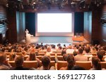 audience at the conference hall.... | Shutterstock . vector #569127763