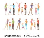 adults abuse children...   Shutterstock .eps vector #569133676
